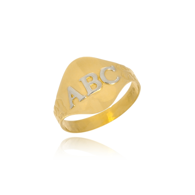 09bcaff778f Anel ABC – Ouro 18K